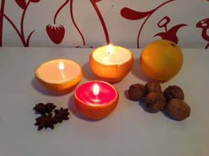 Orangekerzen 1